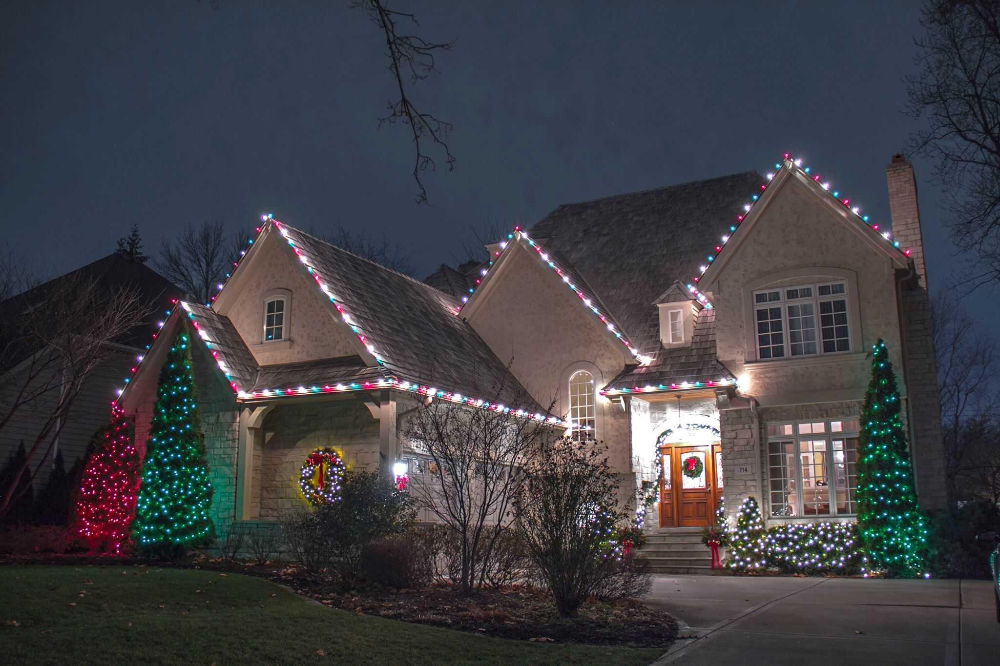 christmas light installation in colorado