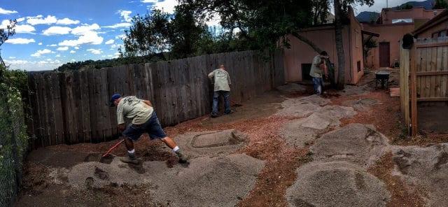 Lawn Pros Staff Doing Grass Installation