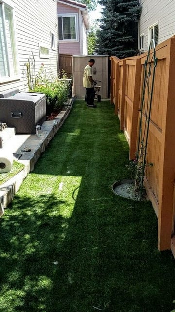 Beautiful and Green Artificial Grass Lawn