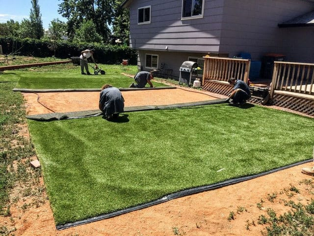 Lawn Pro People doing Artificial Grass Installation