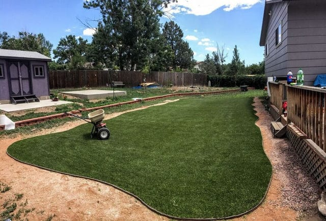 Synthetic Grass Turf finally installed