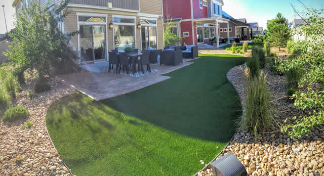 Artificial Synthetic Grass installation on a lawn