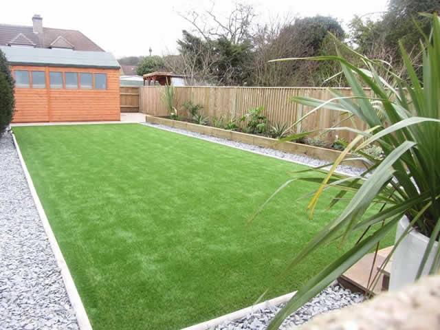 Fresh-looking artificial grass installation