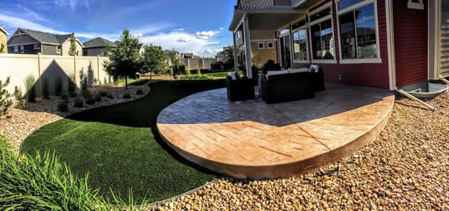 A Beautiful Lawn with Fake Grass Installed