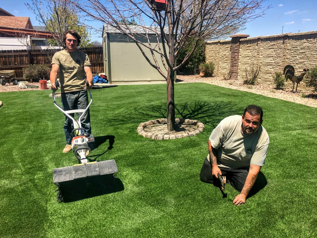 Artificial Fake Synthetic Grass Lawnpros Aurora